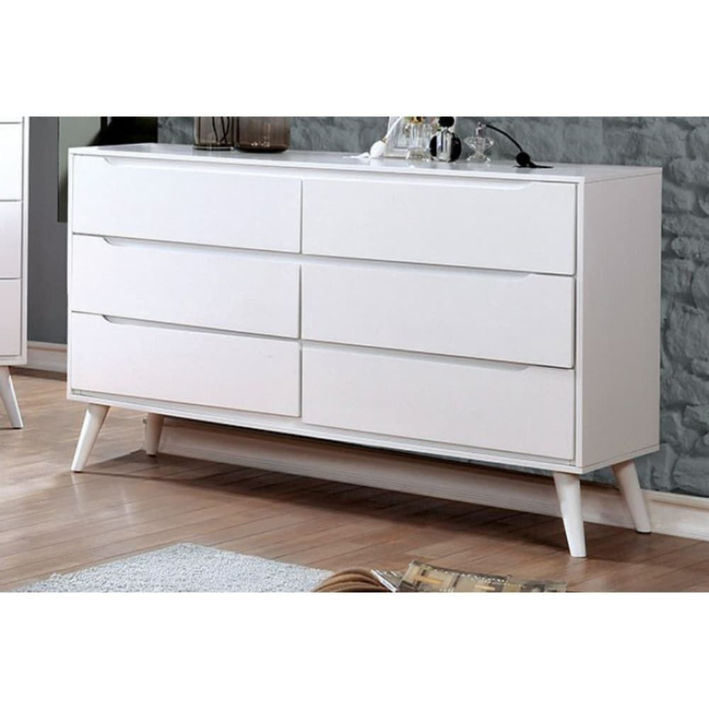 Shop sauv wooden mid century modern style dresser white on sale free shipping today overstock 21734059