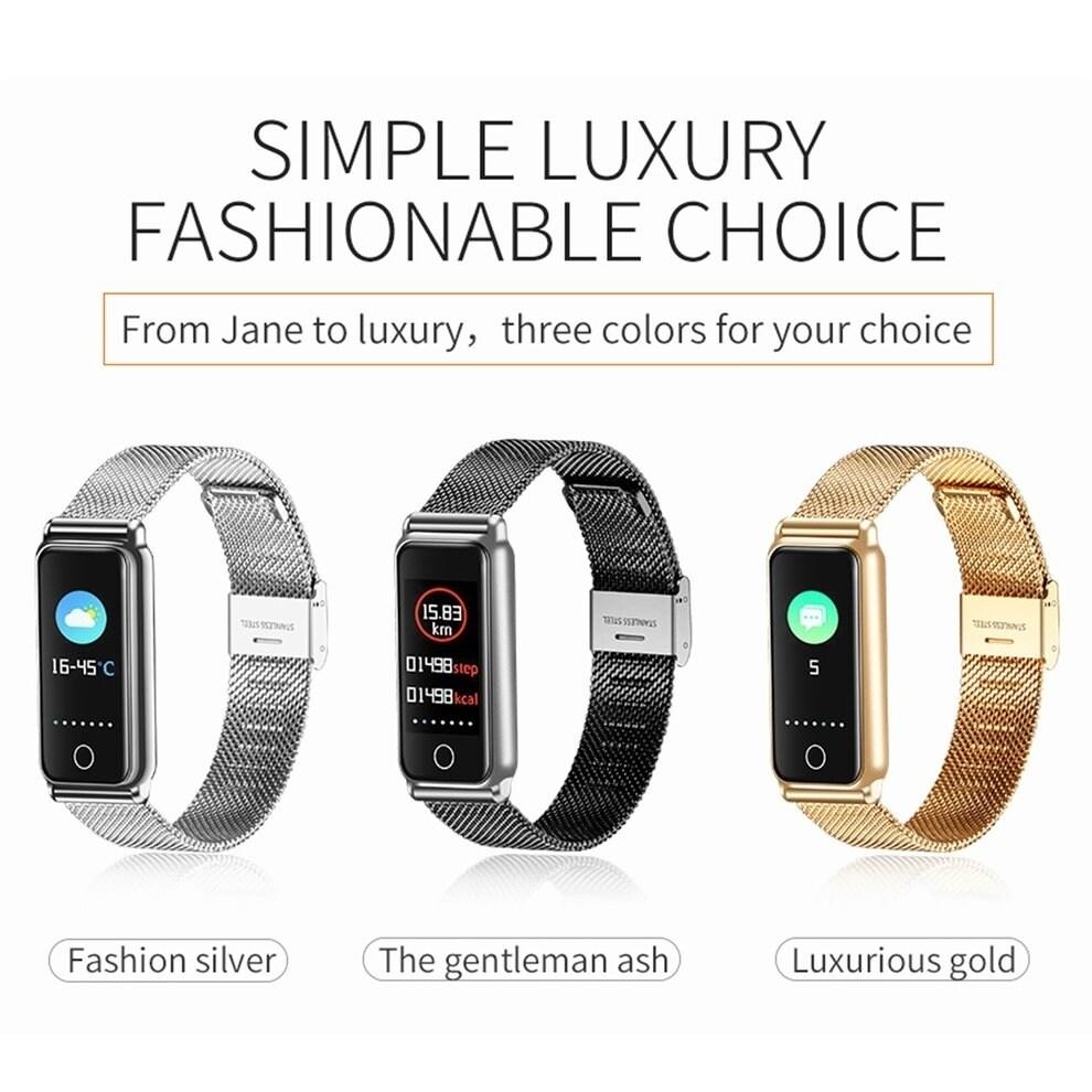 Shop Y8 Full Metal Color Screen Smartwatch Heart Rate Blood Pressure