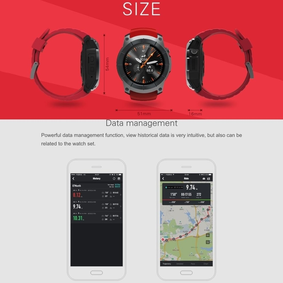 b432e59ff Shop S958 Smart Watch Waterproof Heart Rate Monitor GPS 2G SIM Card Sports  Watch - Free Shipping Today - Overstock - 21752223