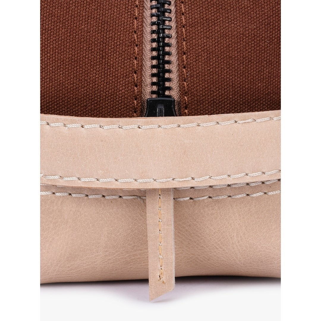 32dd4661a0d Shop Handmade Phive Rivers Men s Leather and Canvas Brick Brown Toiletry  Kit (Italy) - On Sale - Free Shipping Today - Overstock.com - 21753613