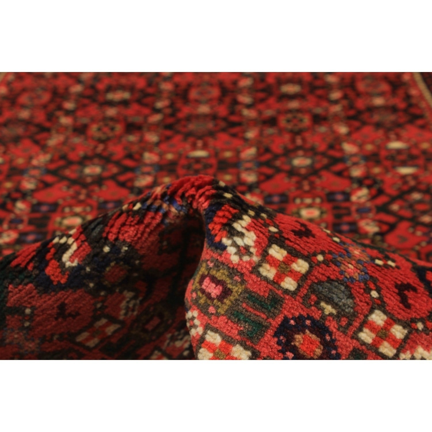 Ecarpetgallery Hand Knotted Hosseinabad Red Wool Rug (31 X 49)
