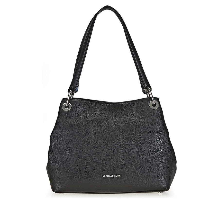 5b3098153973 Shop Michael Kors Raven Large Black Shoulder Tote Bag - Free Shipping Today  - Overstock.com - 21762766