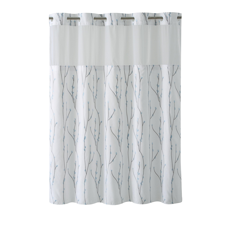 Shop HooklessR Shower Curtain Cherry Bloom White Blue
