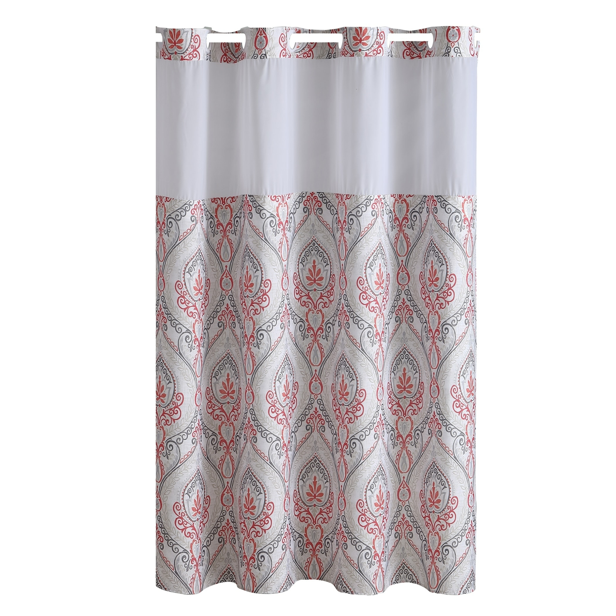 Shop HooklessR Shower Curtain French Damask Print Coral
