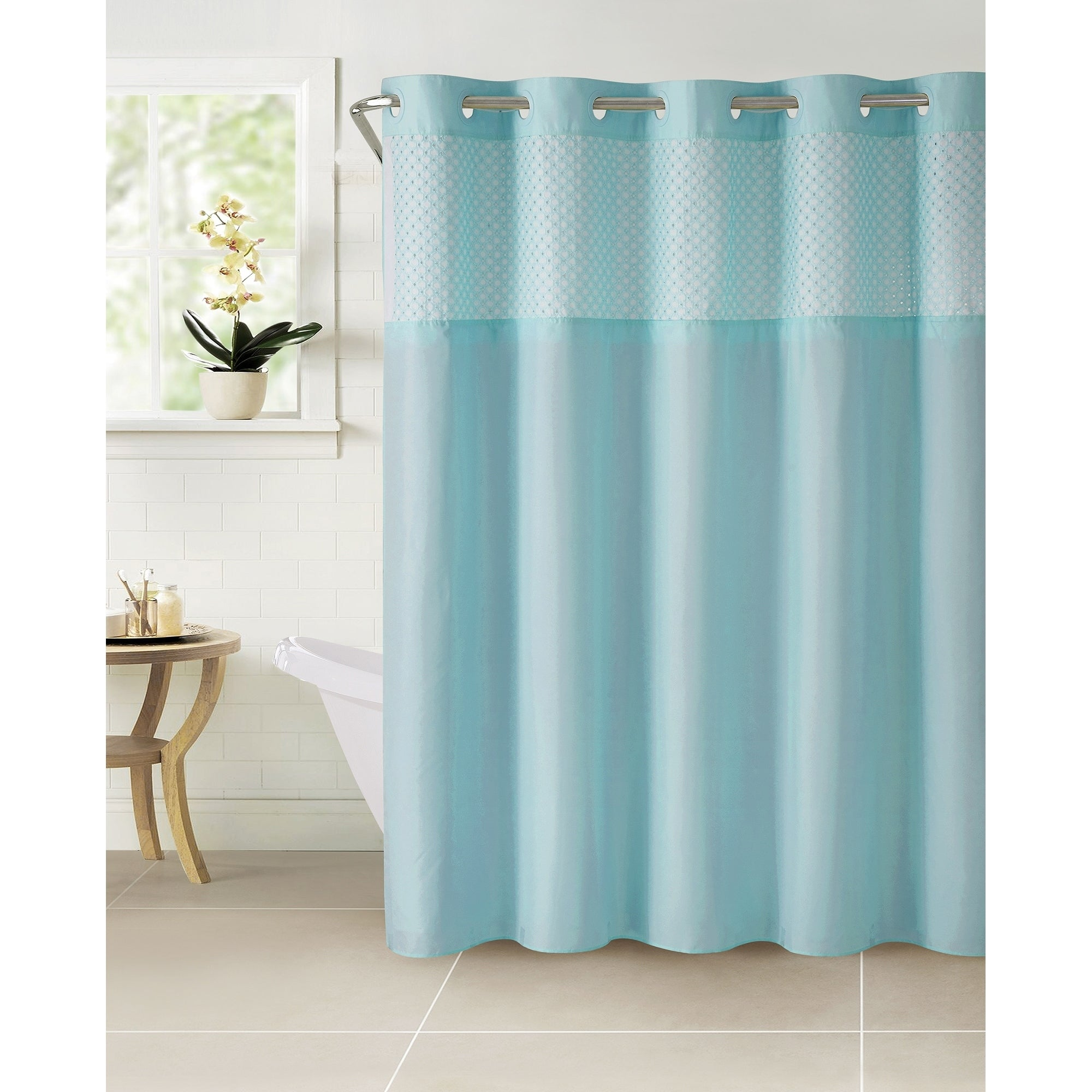 Shop HooklessR Shower Curtain Bahama Eyelet Crystal