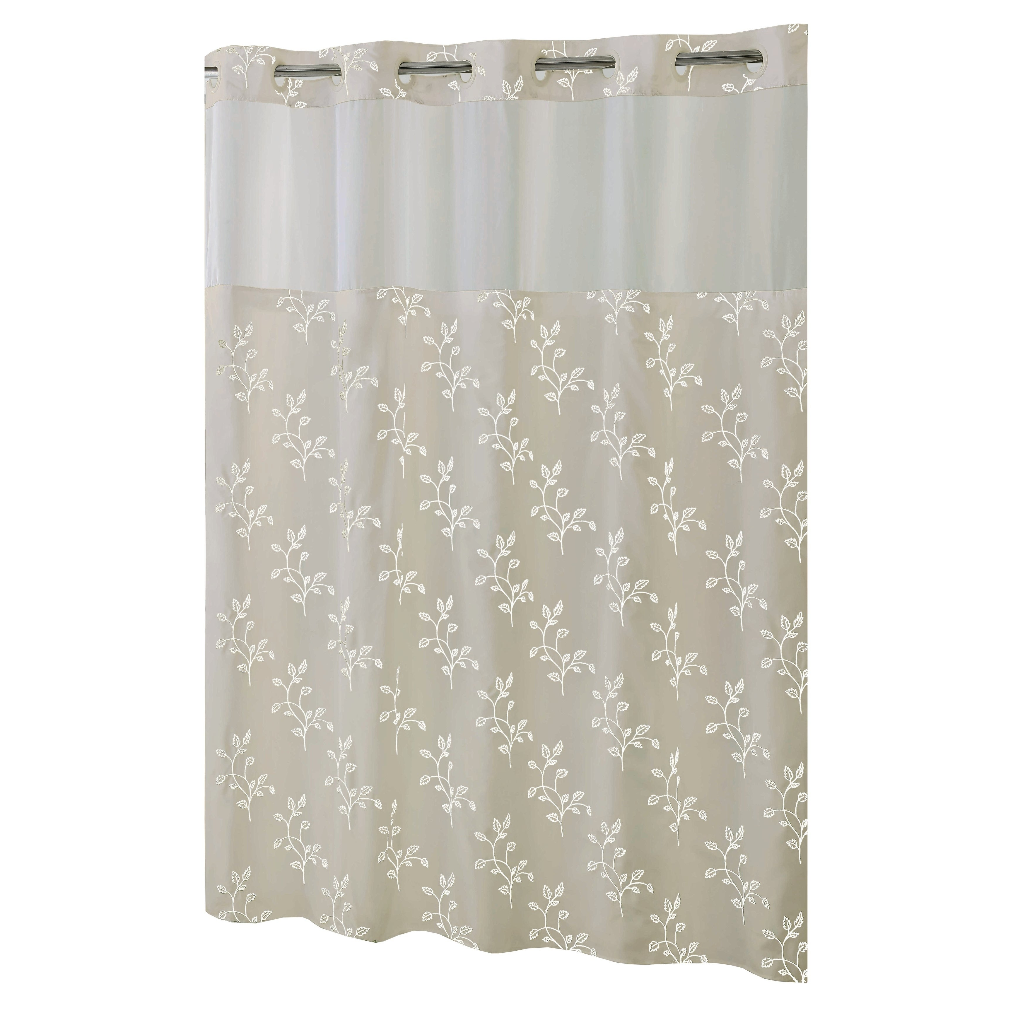 Shop HooklessR Shower Curtain Spring Leaves Taupe