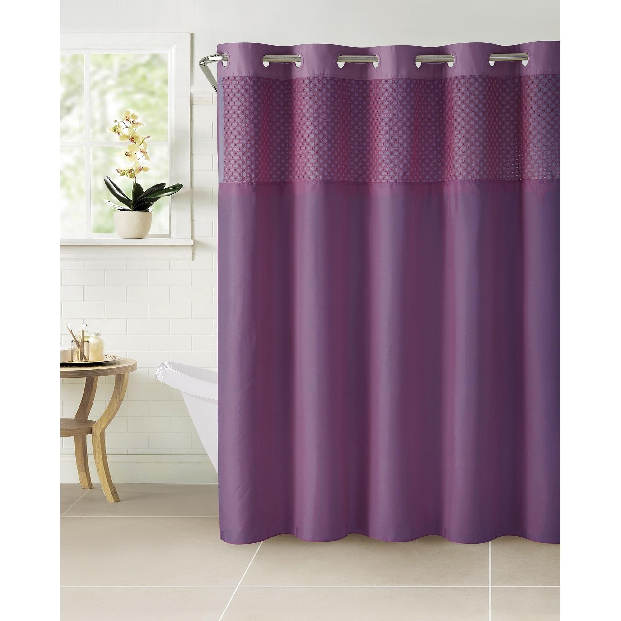 Shop HooklessR Shower Curtain Bahama Eyelet Eggplant