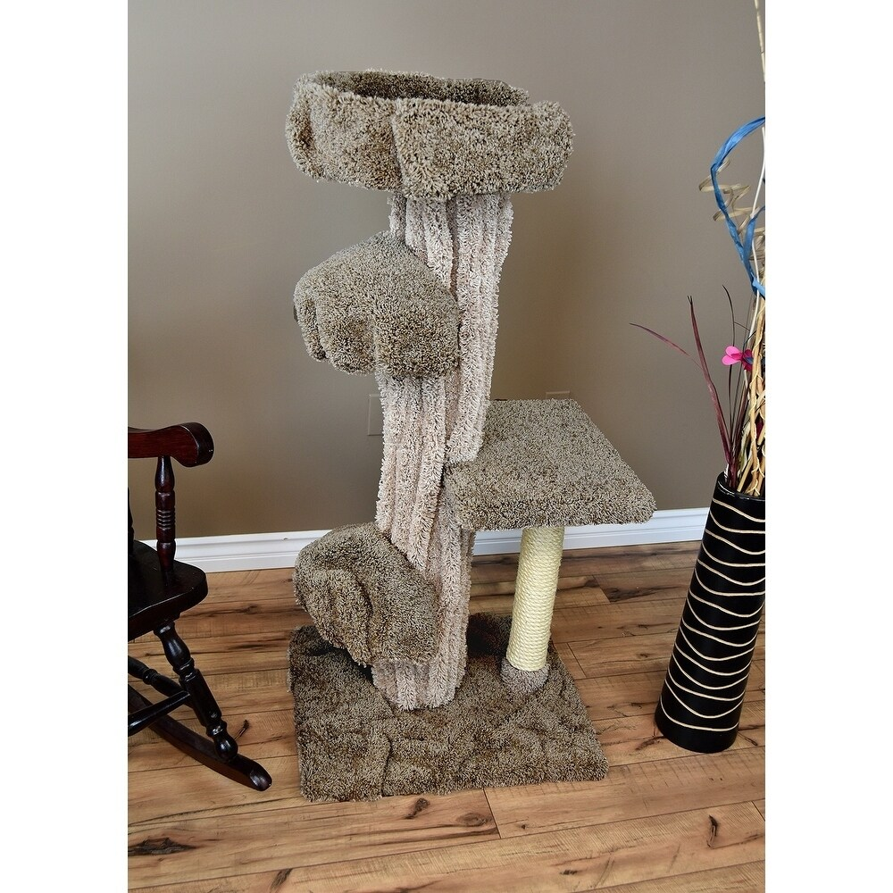 Shop prestige cat trees unique cat play tree free shipping today overstock com 21773539