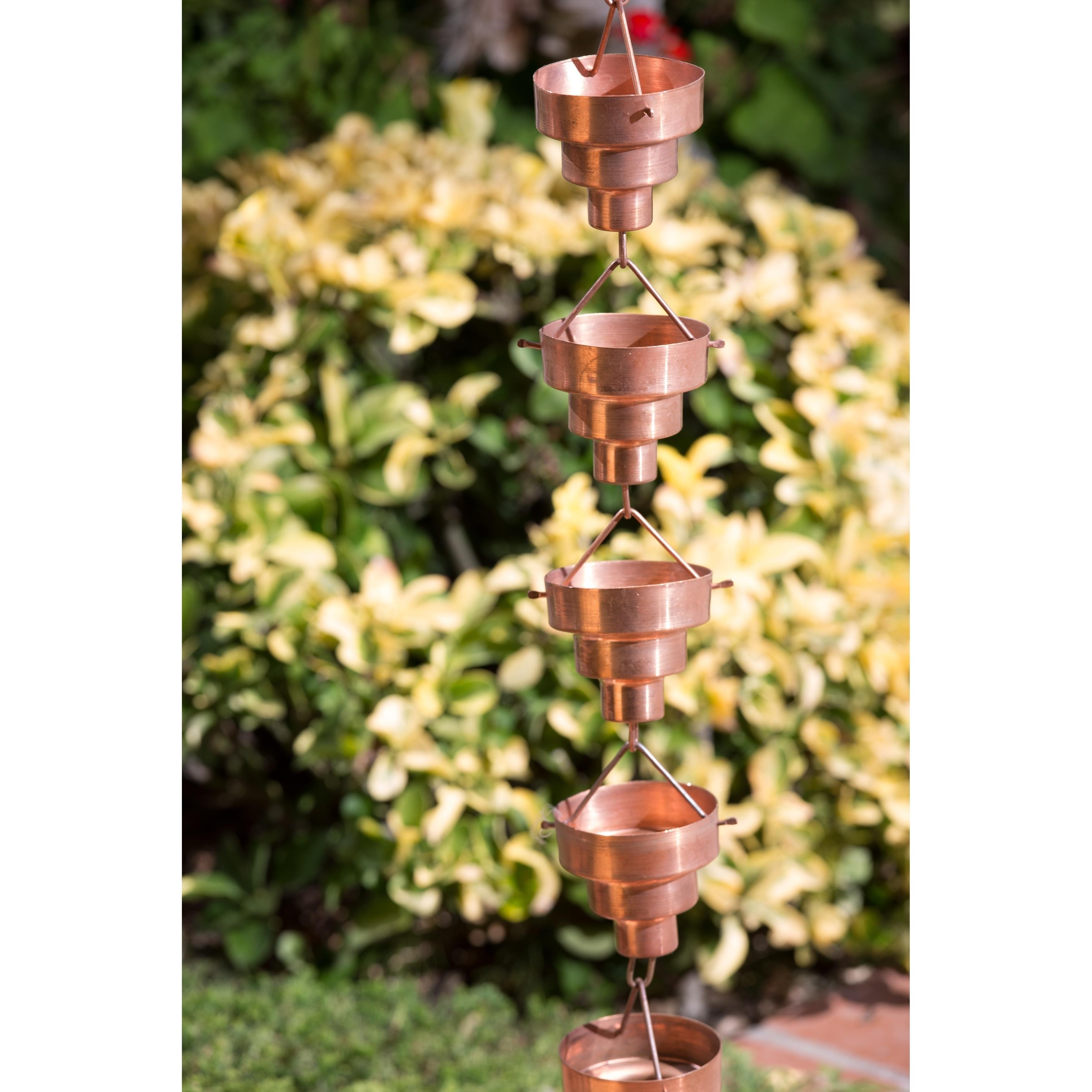 Shop Monarch Pure Copper Bamboo Rain Chain 8.5-Foot - Free Shipping ...