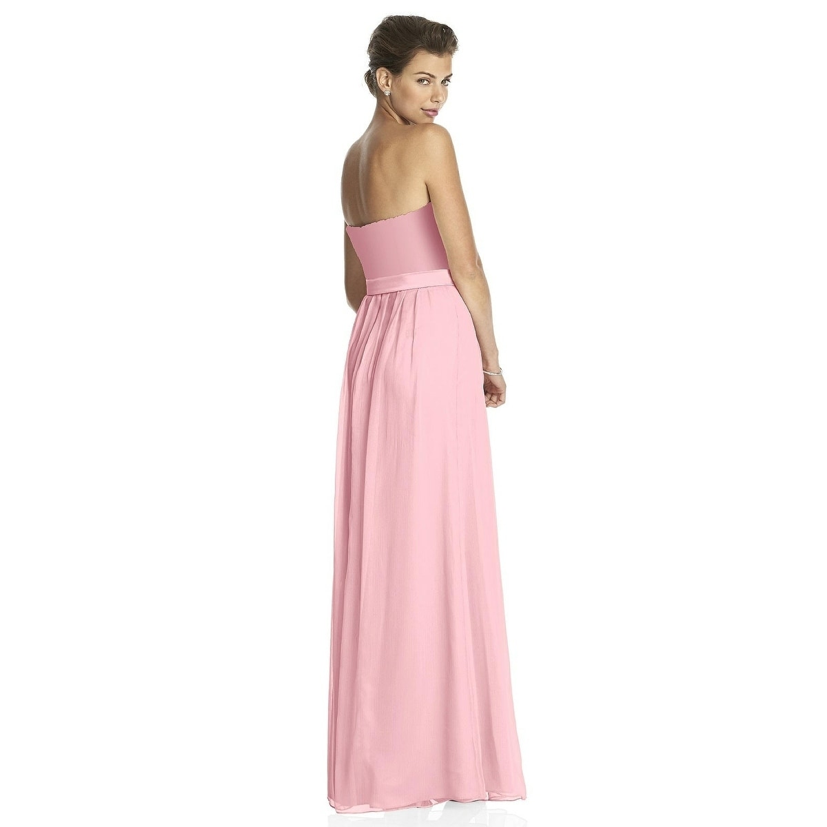 Lela Rose Lace and Satin Strapless Full Length Dress - Free Shipping ...