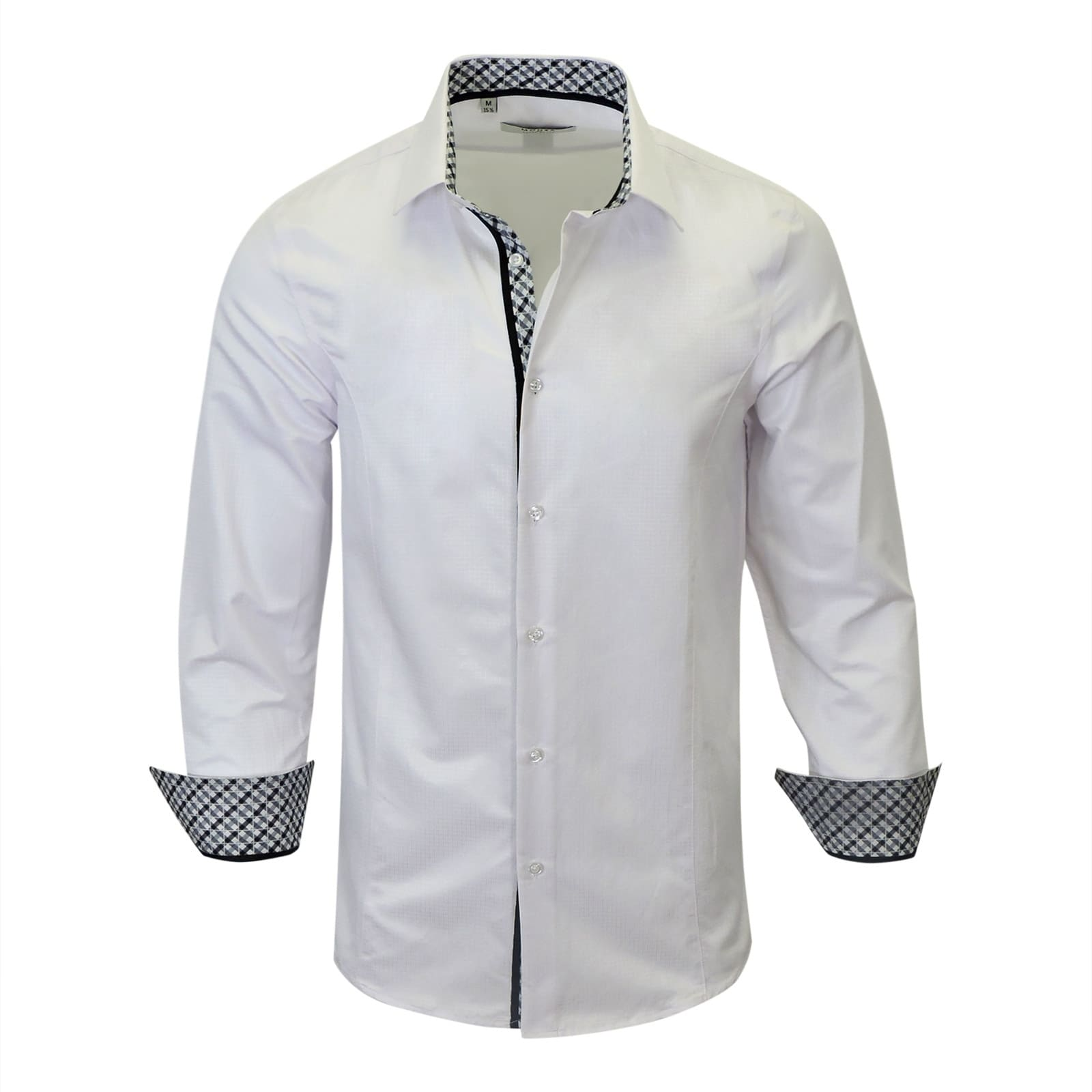 Shop Contreasted Modern Fit Mens Dress Shirt From Monza Free