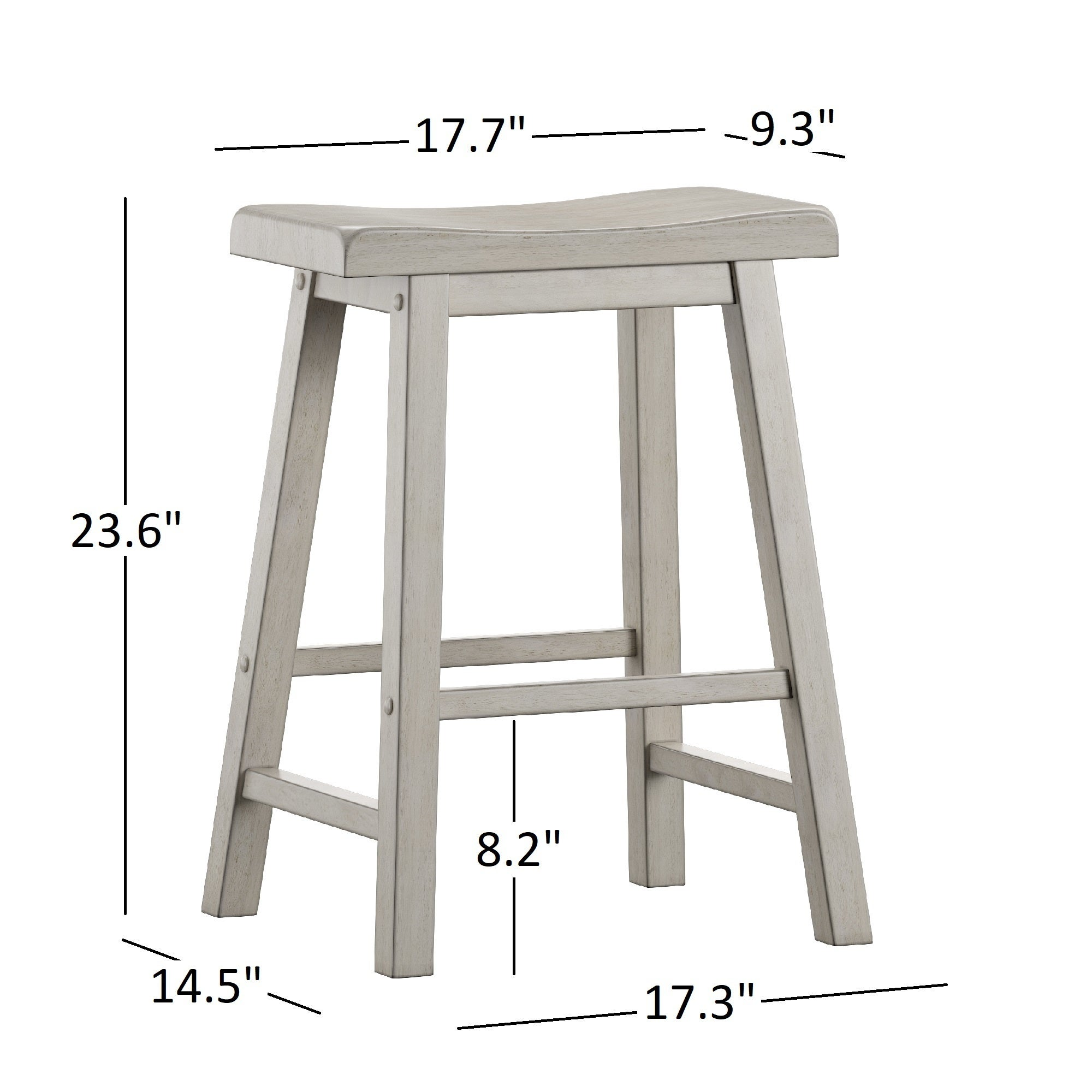 Shop Salvador Ii Saddle Seat 24 Inch Counter Height Backless Stools