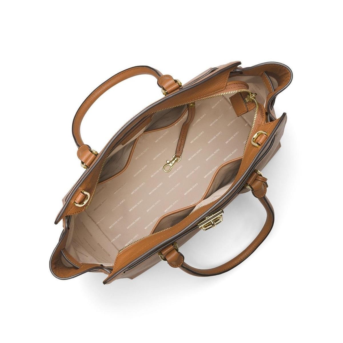 de5189ffb9b6 Shop Michael Kors Hamilton Extra Large Leather Acorn Satchel - XL - Free  Shipping Today - Overstock - 21787865