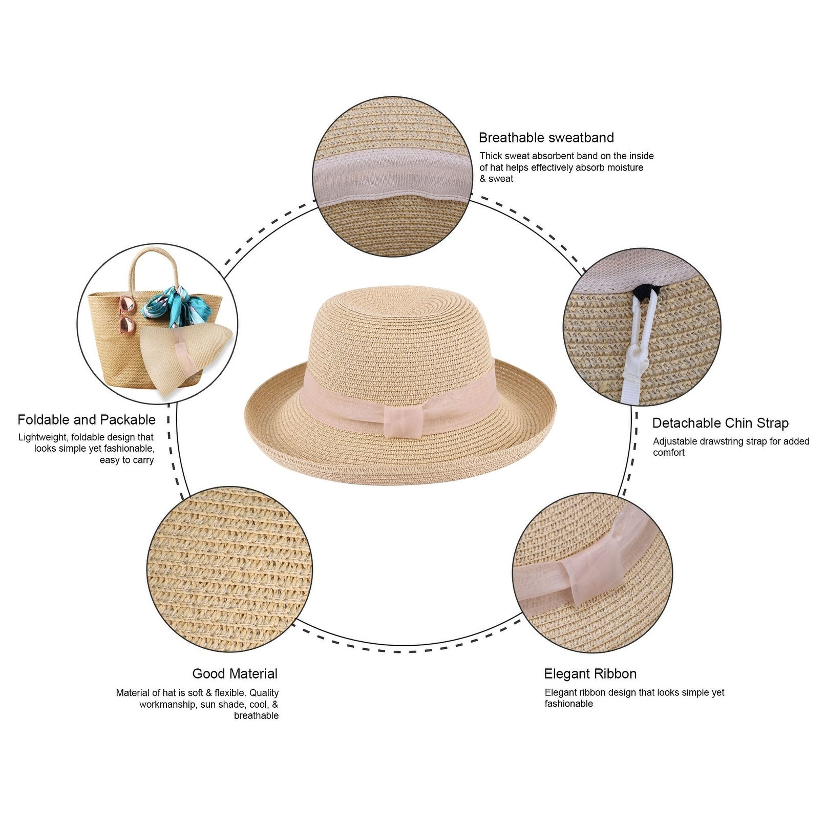 4e62eed9ed0a26 Shop Lullaby Womens UPF 50, Structured Curved Wide Brim Bucket Straw Sun Hat  - On Sale - Free Shipping On Orders Over $45 - Overstock - 21790796