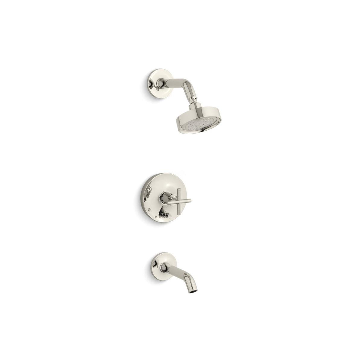 Shop Kohler K-T14420-3 Purist Rite-Temp Pressure-Balancing Bath And ...
