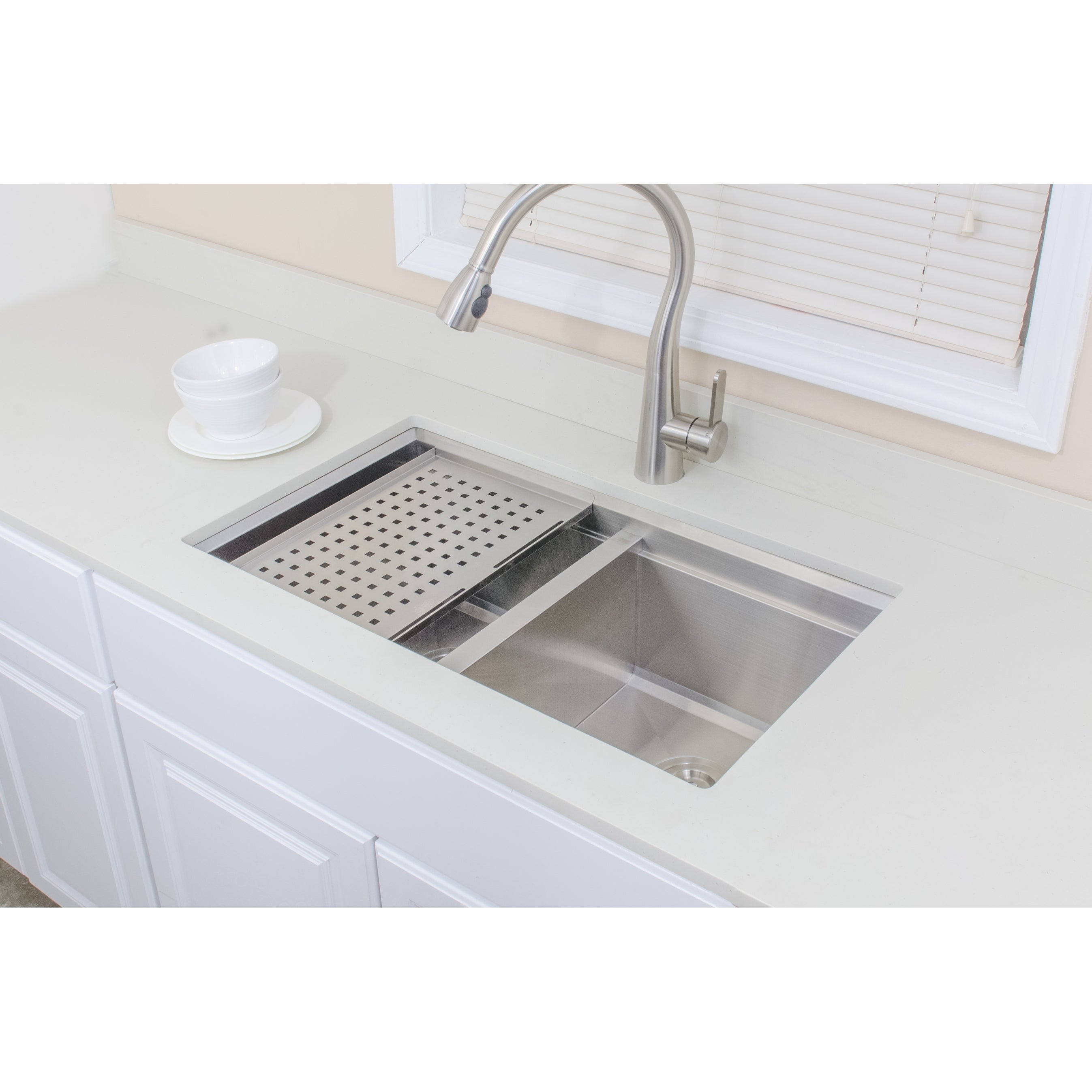 Shop Wells Sinkware 3D Series 32-inch Undermount 50-50 Double ... on stainless steel trough sinks, copper kitchen sinks, stainless steel undermount double sink, farmhouse kitchen sinks, integrated kitchen sinks, stainless steel work sinks, stainless steel sink grids, franke kitchen sinks, discontinued kitchen sinks, stainless steel single undermount sink, stainless steel sink protector, stainless steel drop in kitchen sinks, elegant kitchen sinks, american standard kitchen sinks, stainless steel deep sink, low divide kitchen sinks, stainless steel sink with drainboard, stainless steel sinks product, kraus kitchen sinks, undermount bathroom sinks,