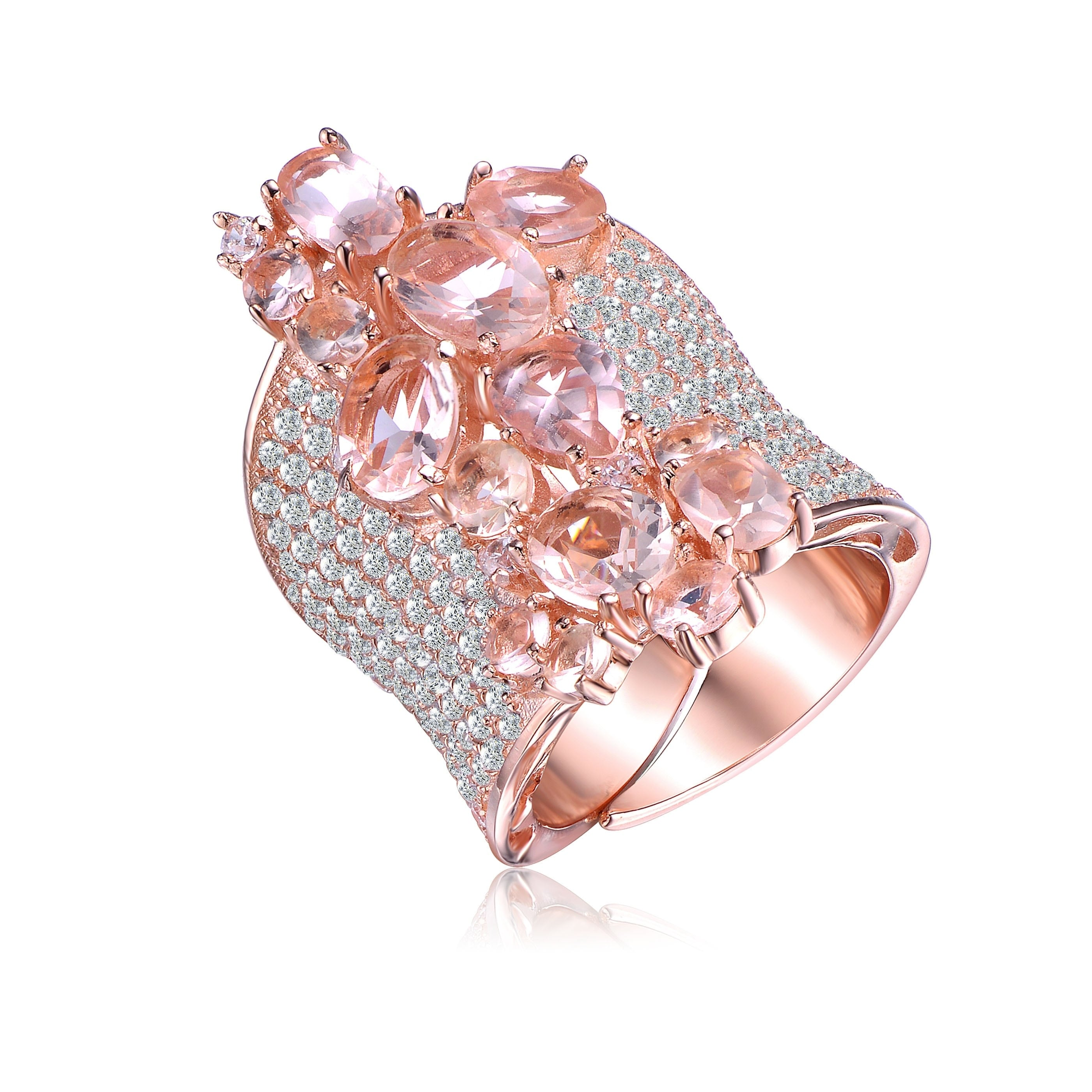 Collette Z Rose Gold Morganite Cubic Zirconia Ring - Free Shipping ...