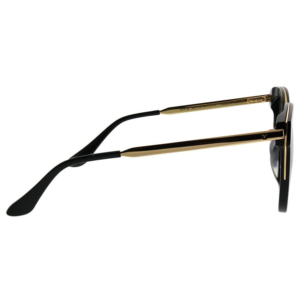 0195709af7 Shop Gentle Monster Square Absente One 01(2M) Women Black Gold Frame Gold  Mirror Lens Sunglasses - Ships To Canada - Overstock - 21797763