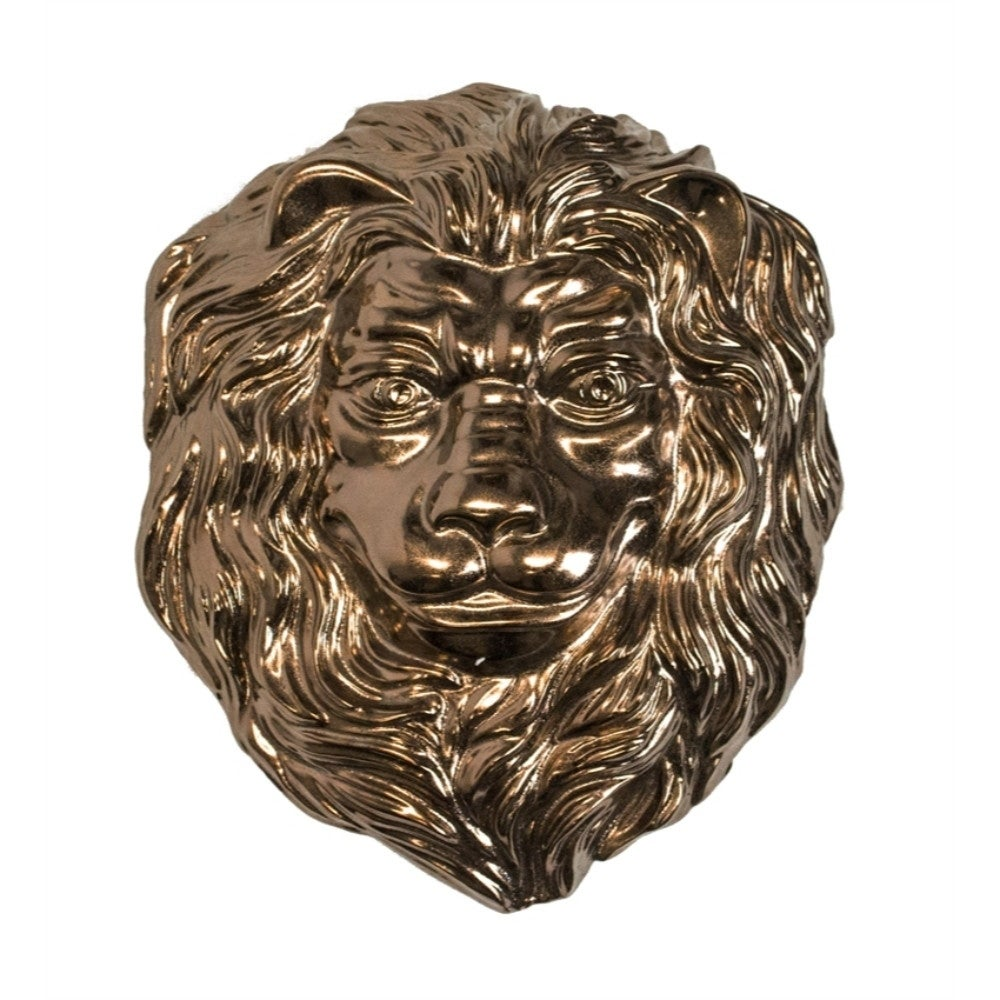 Shop Fearless Ceramic Lion Wall Decor Bronze On Sale Free