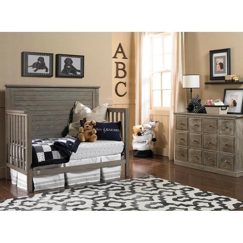 Shop Fisher-Price Quinn Convertible Crib, Vintage Grey - Free ...