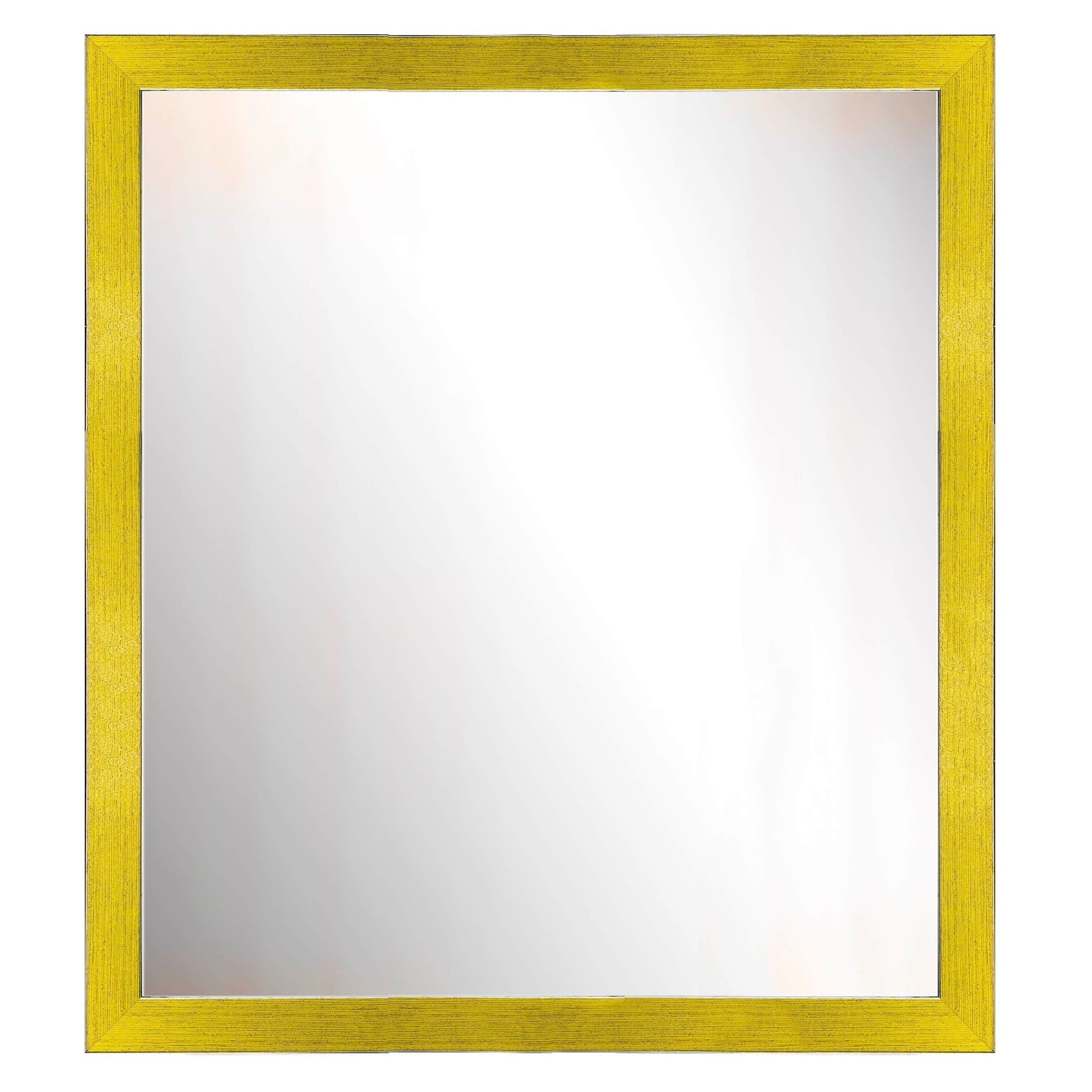 Shop Yellow Two-toned Silver Speckled Framed Mirror - On Sale - Free ...