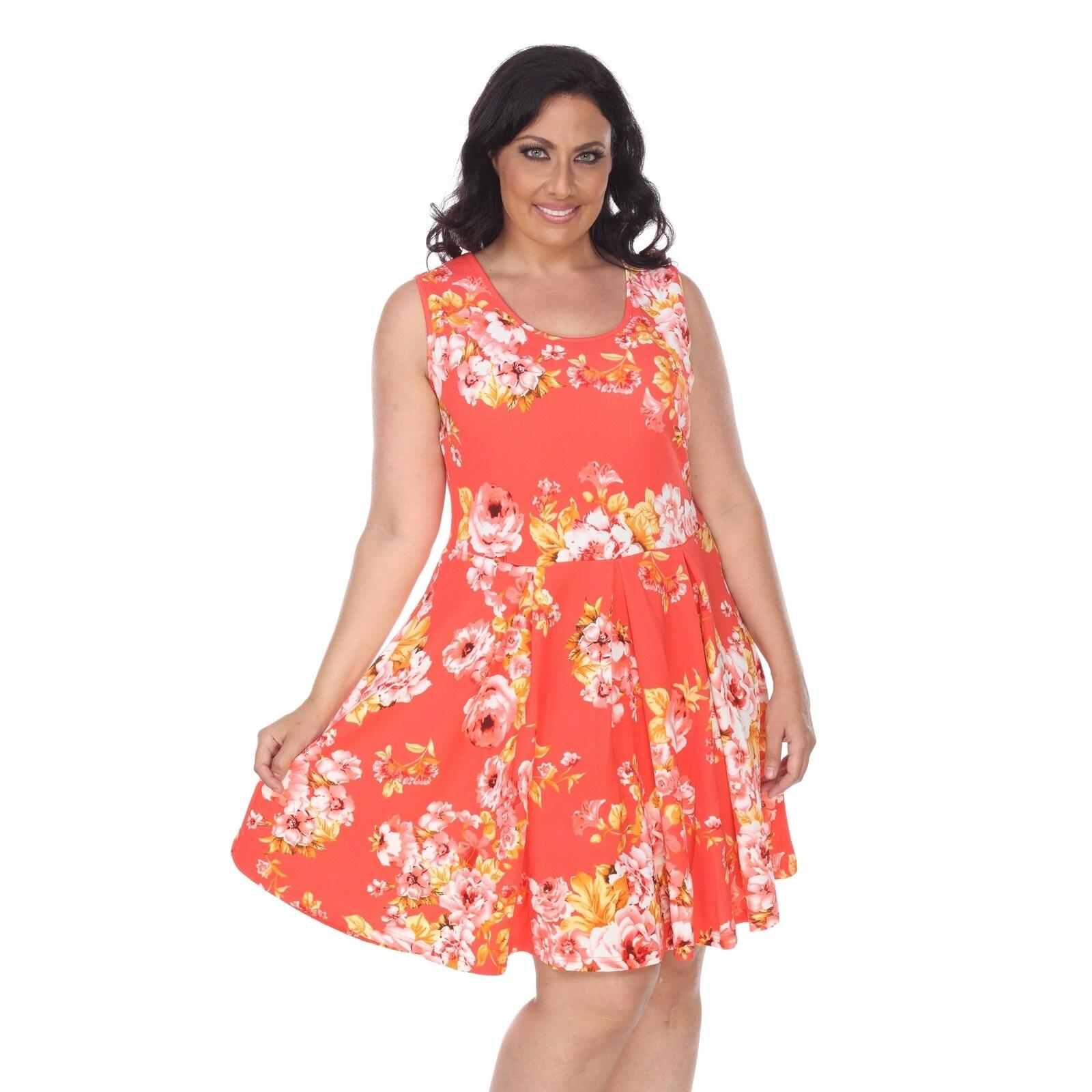 32575804302 Shop White Mark Plus Flower Print 'Crystal' Dress - Free Shipping On ...
