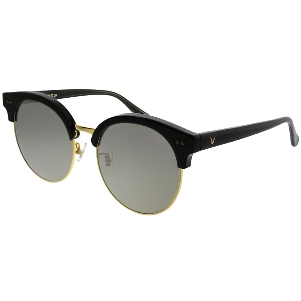 2a4b4ad60b7 Gentle Monster Round MoonCut 01(2M) Women Black Gold Frame Gold Mirror Lens  Sunglasses
