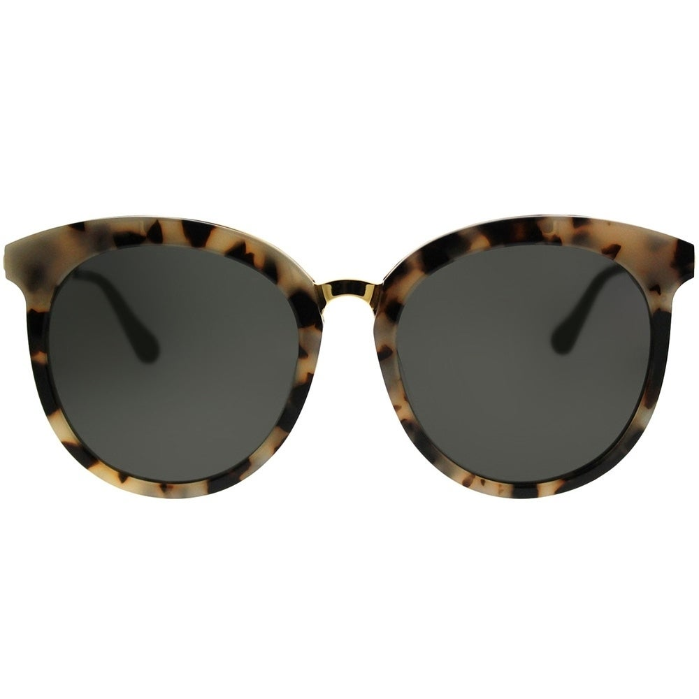 2437247d2a1c7 Shop Gentle Monster Round LoveSome One S3 Women Beige Havana Gold Frame  Grey Lens Sunglasses - Free Shipping Today - Overstock - 21812063