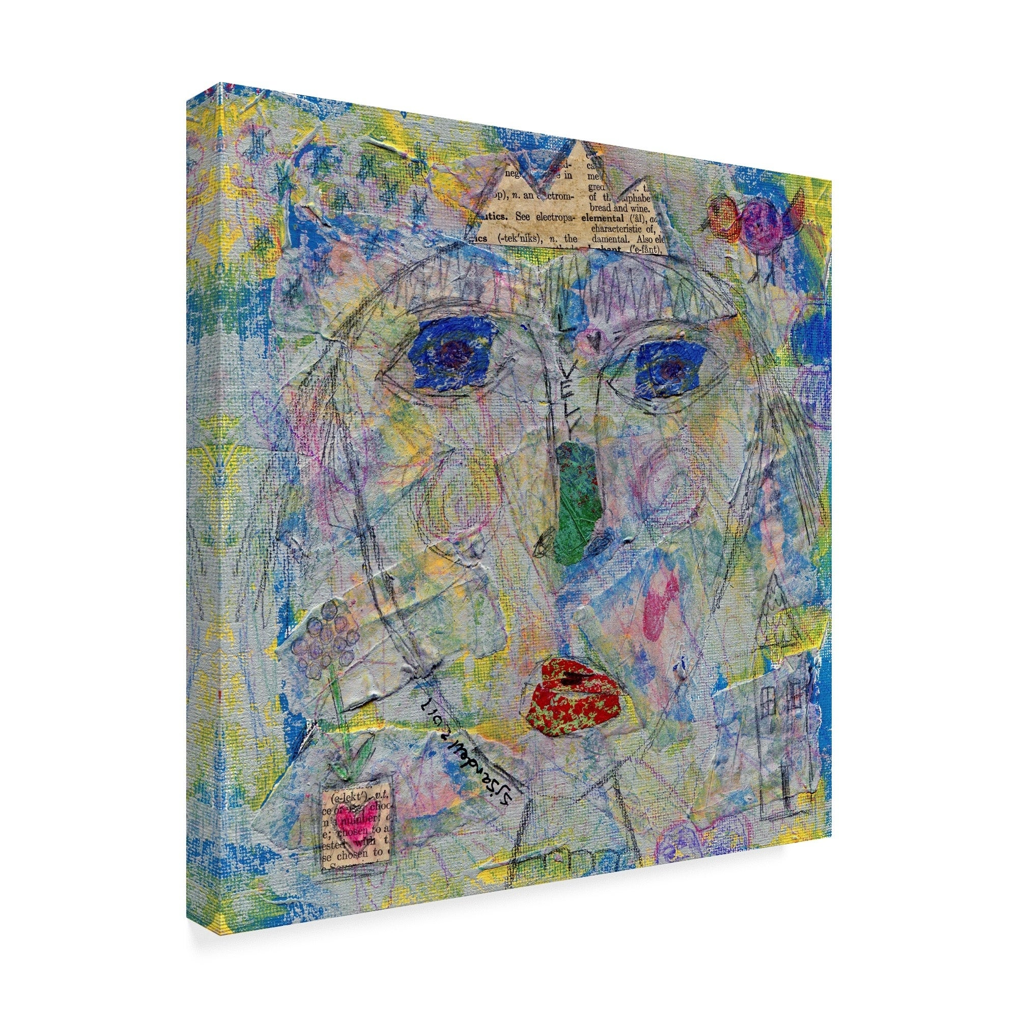 Funked Up Art 'Lovely Queen' Canvas Art - Multi-color