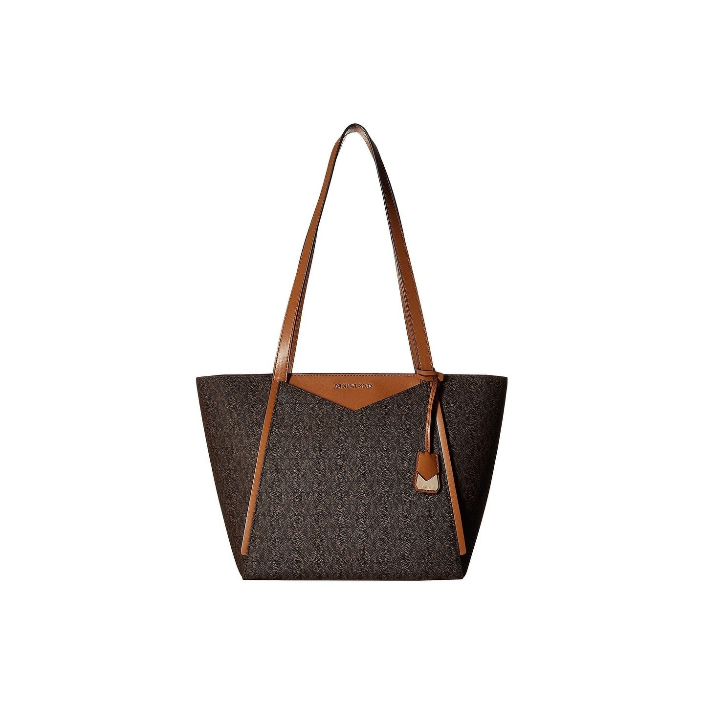 4dd83d67b7fb0 Shop Michael Kors Whitney Signature Small Top Zip Brown Tote - On ...