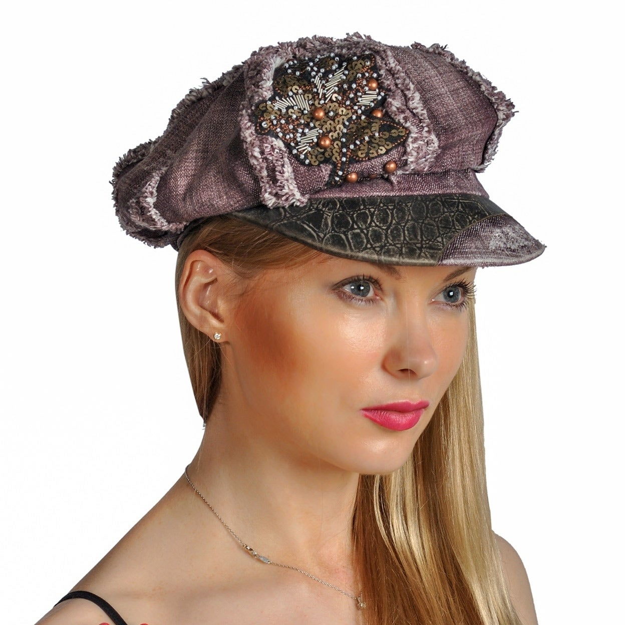 Dream Control Distressed Rhinestoned Sequins Bucket Irish Style Hats Wine -  Free Shipping On Orders Over  45 - Overstock - 27514400 b6e742e36ff
