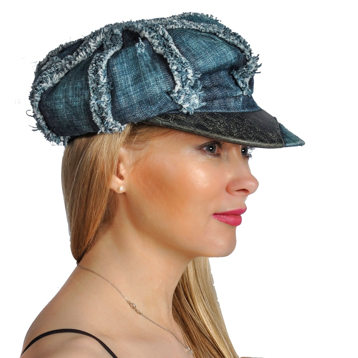 Dream Control Denim Distressed Leather Lining Irish Style Hats Blue - Free  Shipping On Orders Over  45 - Overstock - 27514430 da48e44f289