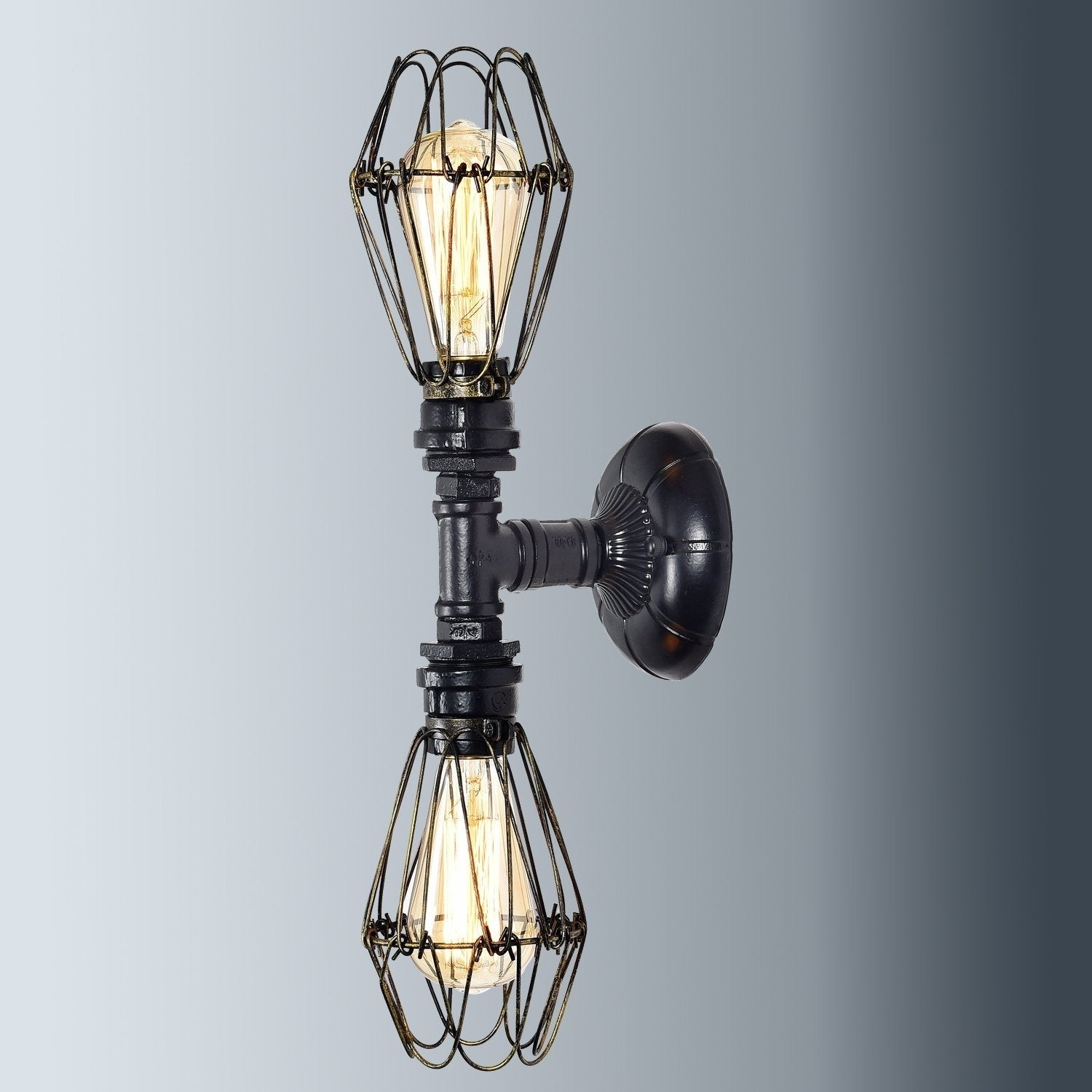 Shop Industrial Wire Cage Wall Sconce Metal Wall Lamp Light Fixture ...