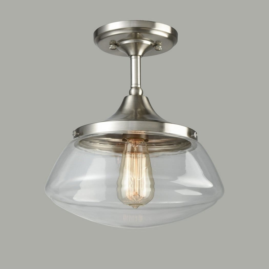 Shop modern globe pendant light with silver foil glass shade brushed nickel free shipping today overstock 21826971