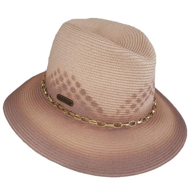 ed1259bb465 Shop Hatch Painted Sun Summer Poly Braid women s Gambler Fedora Hat - Free  Shipping On Orders Over  45 - Overstock.com - 21827383