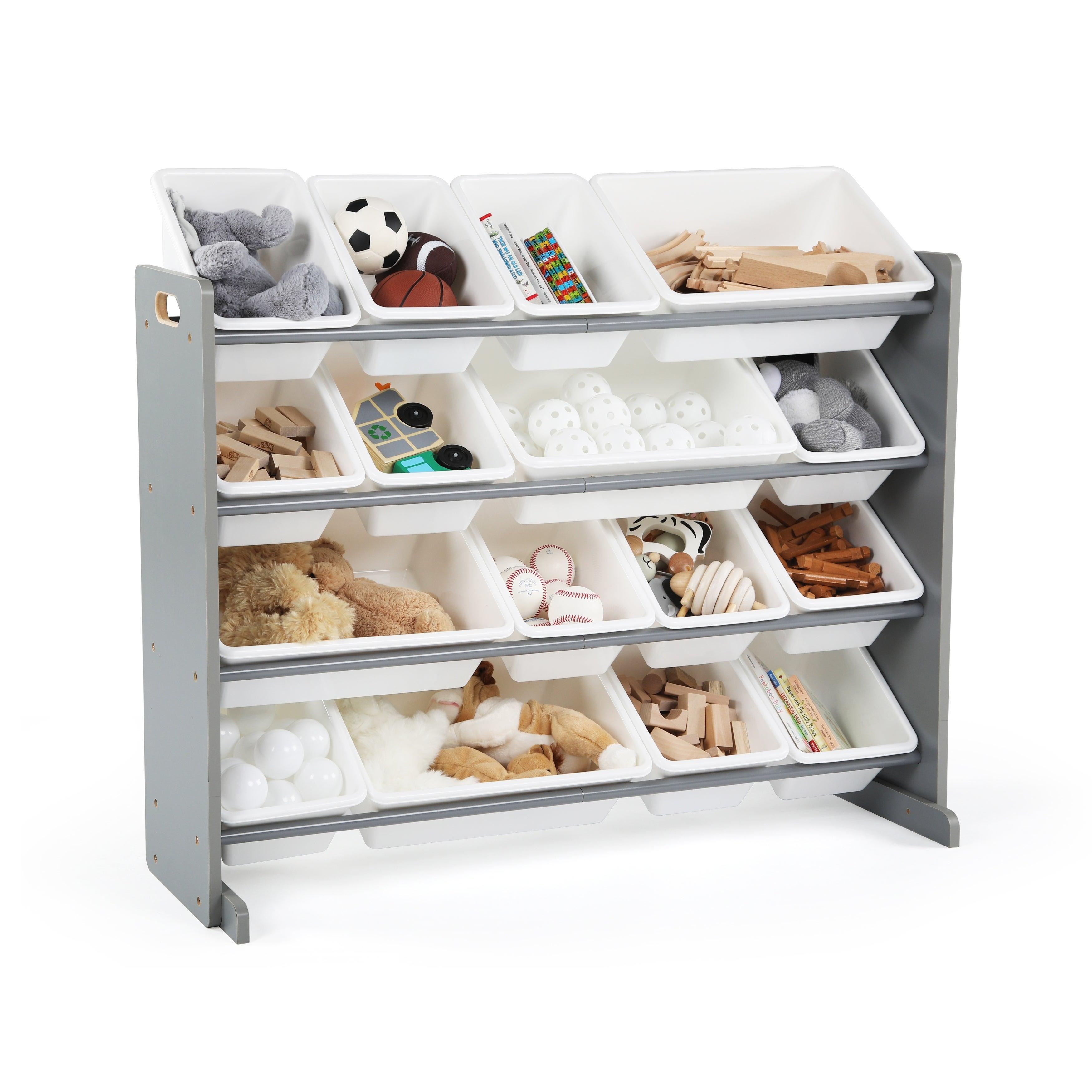 Shop Tot Tutors Grey White Super Sized Kids Toy Storage Organizer W