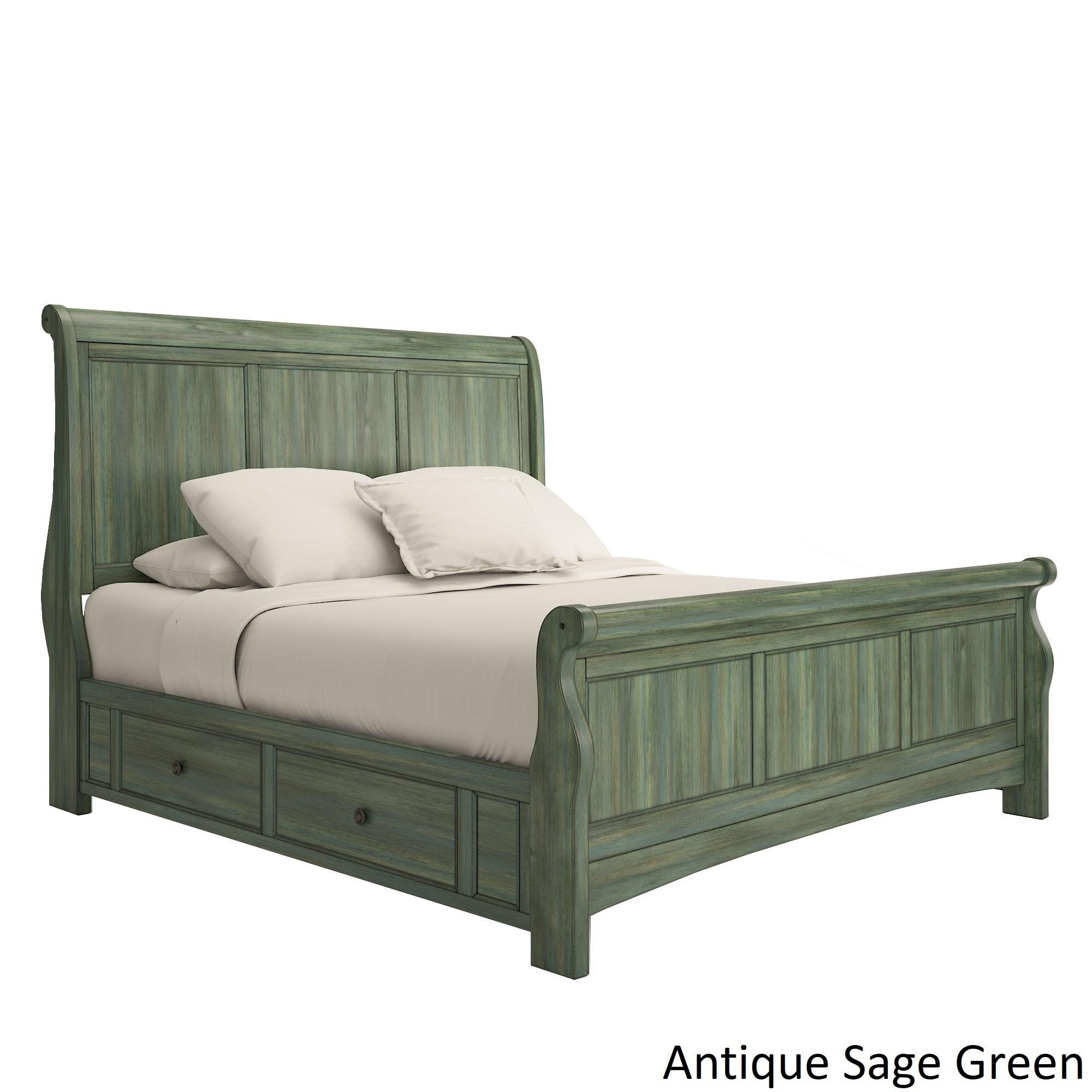 Ediline King Size Wood Sleigh Platform Storage Bed By Inspire