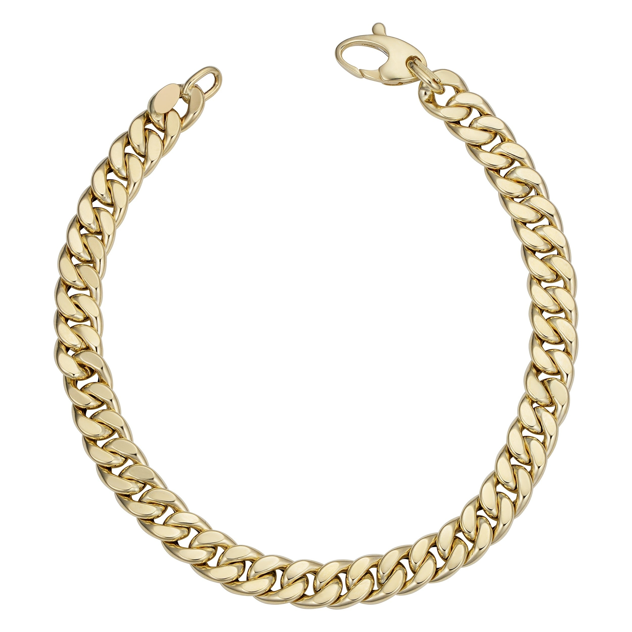 Fremada Italian 14k Yellow Gold Curb Link Bracelet 6 Millimeters Wide X 8 5 Inches Long On Free Shipping Today 21851244