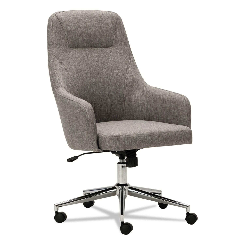 Beau Alera Captain Series Gray Tweed High Back Chair