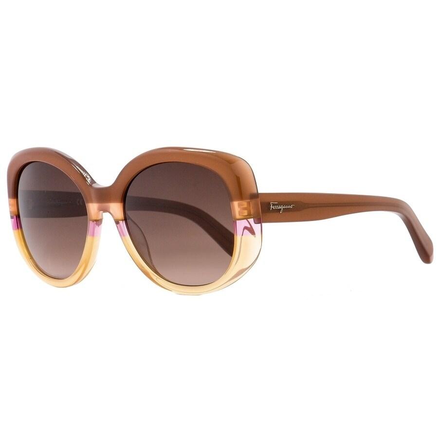 5682ca5f9b2c Shop Salvatore Ferragamo SF793S 225 Womens Rust/Peach 54 mm Sunglasses -  Free Shipping Today - Overstock - 21852609
