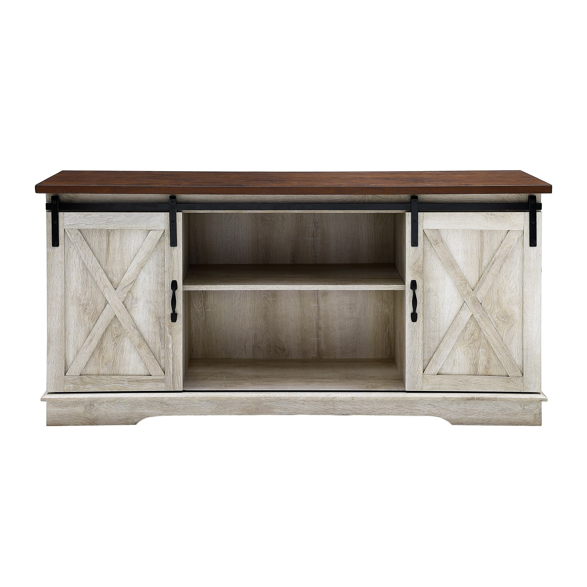 Shop The Gray Barn Wind Gap Rustic Sliding Barn Door TV Console   On Sale    Free Shipping Today   Overstock.com   21852732