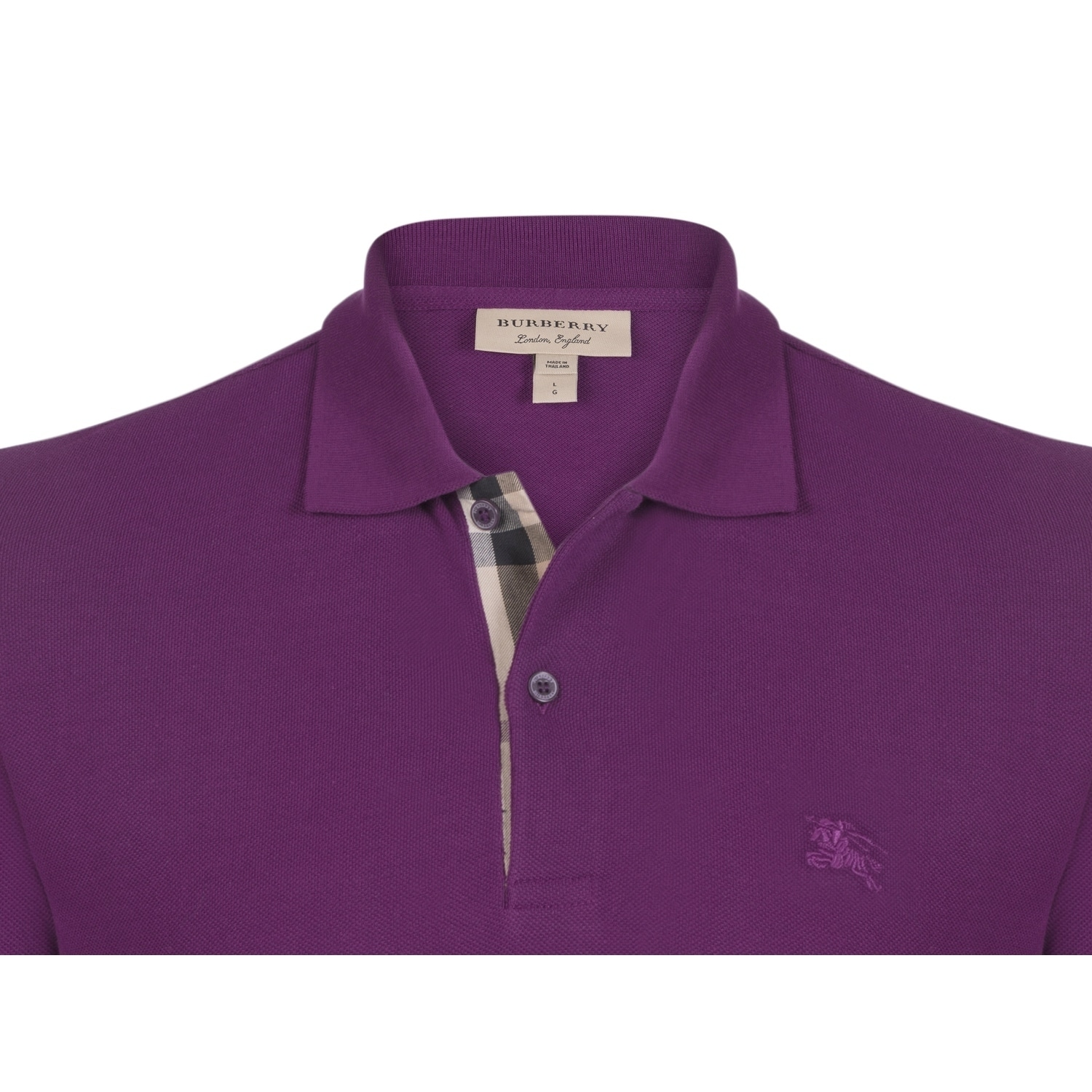 bf1dd7fc Shop Men's Burberry Short Sleeve Dark Royal Purple Polo Shirt - Free  Shipping Today - Overstock - 21852842