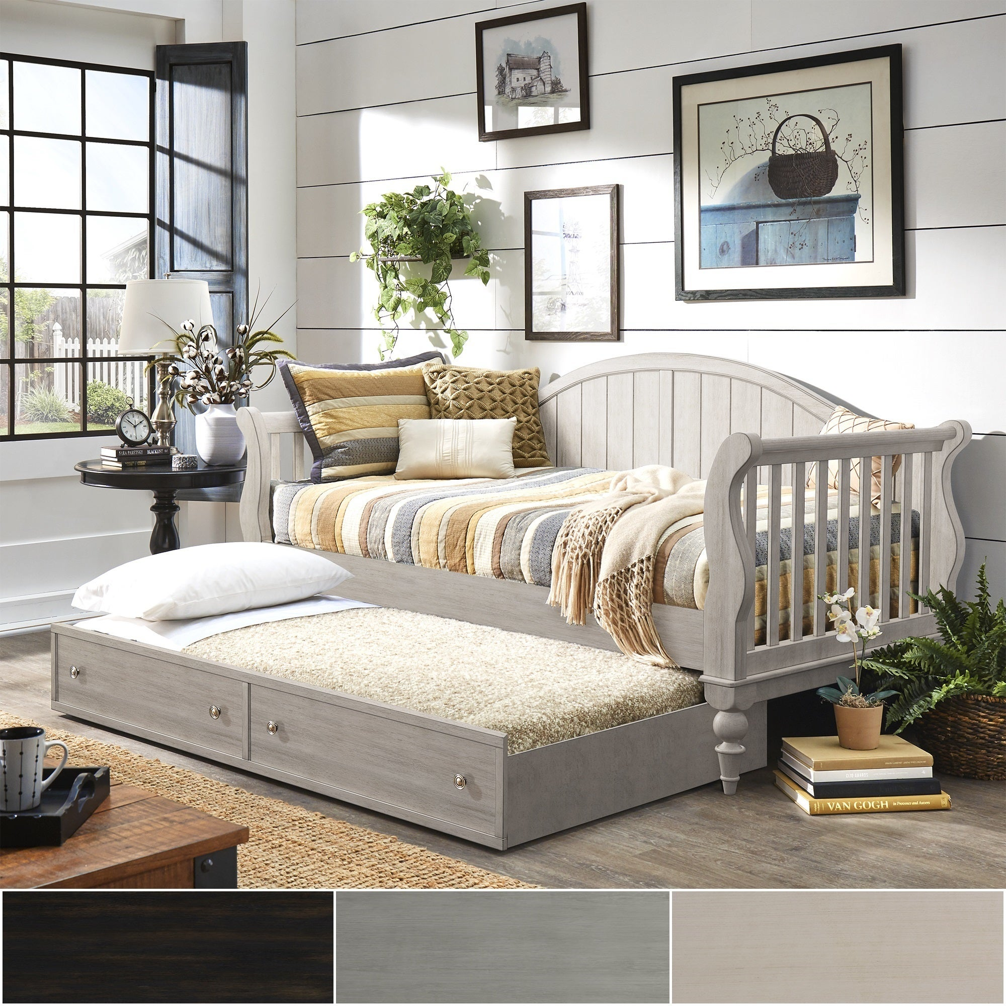 45ab222a3dff3d Shop Wallace Traditional Wood Slat Daybed and Trundle by iNSPIRE Q Classic  - Free Shipping Today - Overstock - 21852919