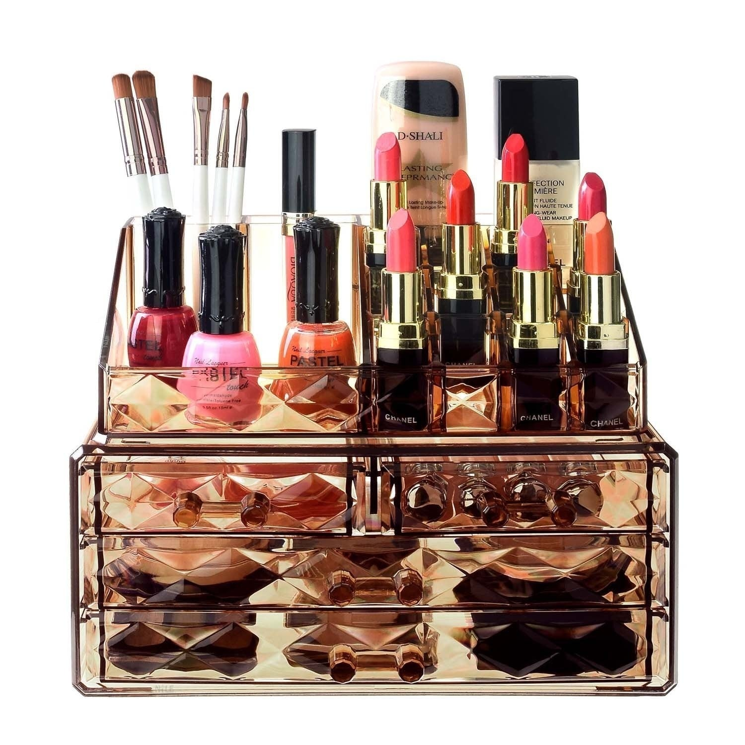 Ikee Design Jewelry And Makeup Organizer Two Pieces Set, Light