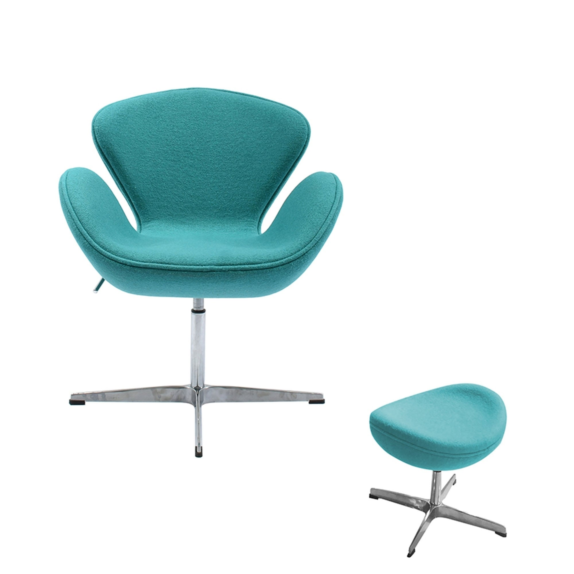Swan Chair Swivel Height Adjustable Lounge Chair Cashmere  sc 1 st  Overstock.com & Shop Swan Chair Swivel Height Adjustable Lounge Chair Cashmere ...