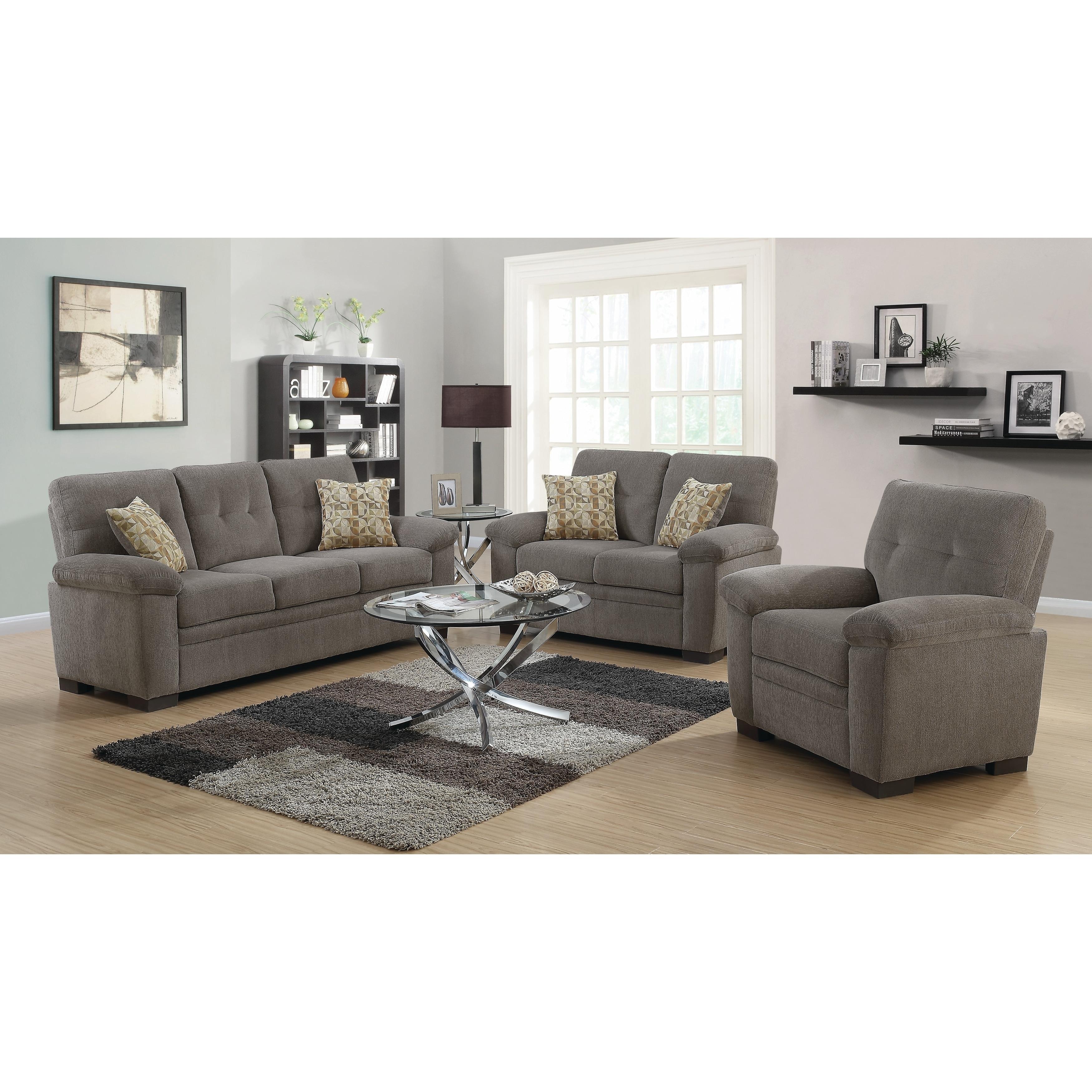 Shop fairbairn casual 3 piece living room set free shipping today overstock com 21862530