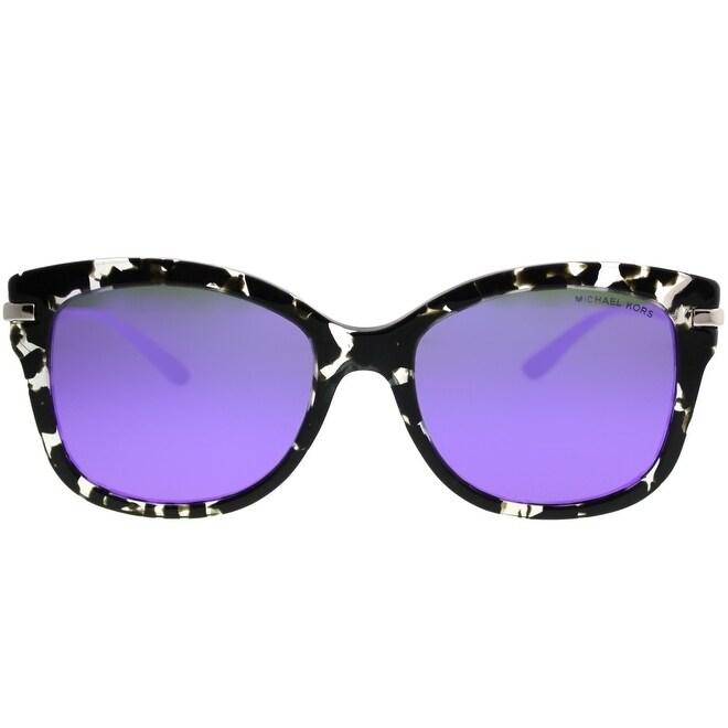 d6461df85d Shop Michael Kors Square MK 2047 Lia 32434V Women Grey Leopard Frame Purple  Mirror Lens Sunglasses - Free Shipping Today - Overstock - 21872044