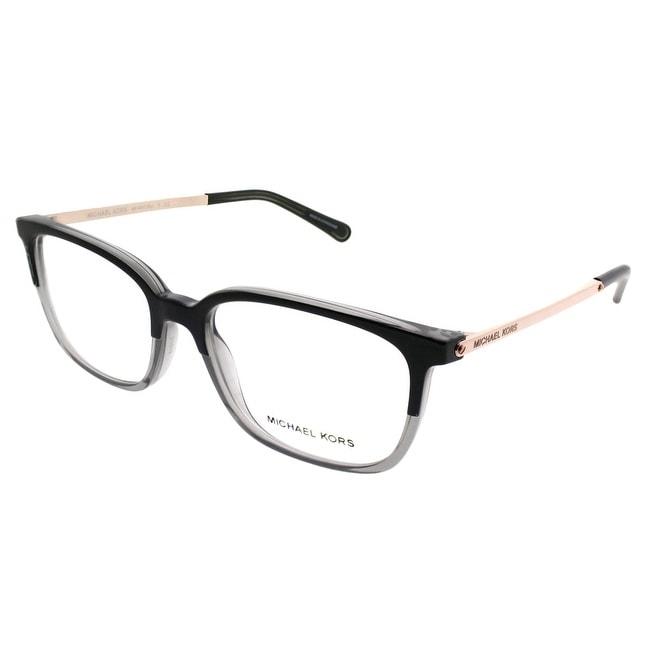 a47f2423db Michael Kors Rectangle MK 4047 Bly 3280 Women Black Transparent Grey Frame  Eyeglasses
