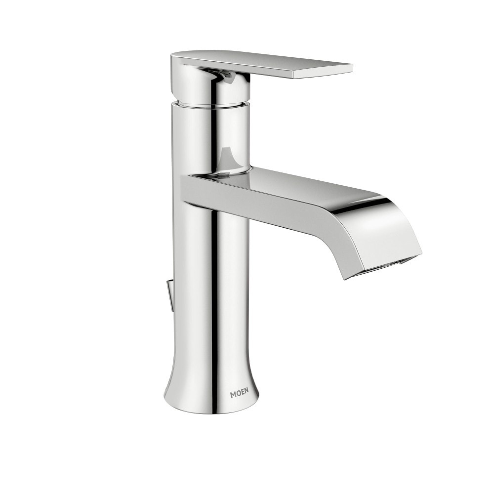 Shop Moen Genta Single-Handle Bathroom Faucet WS84760 Chrome - Free ...