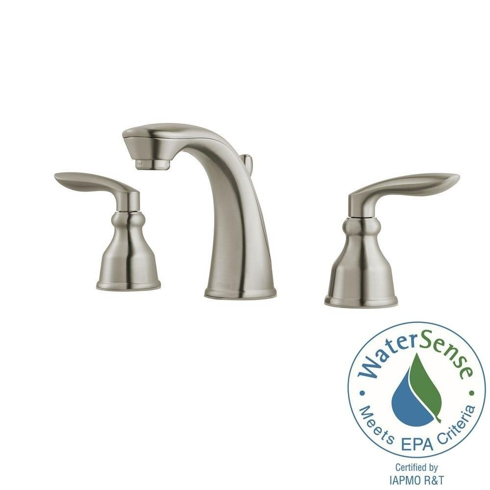 Shop Pfister Avalon Widespread Lavatory Faucet LG49-CB1K Brushed ...